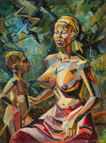 Victor Ernest Elford (British, 1911-2003) Mother and child, West Africa