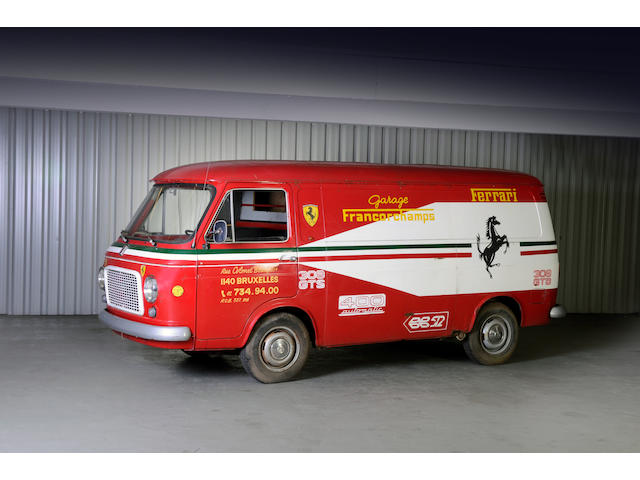 Commissioned new by Ecurie Ferrari Francorchamps in 1973,1973  FIAT  Camionette ex-écurie Francorcha