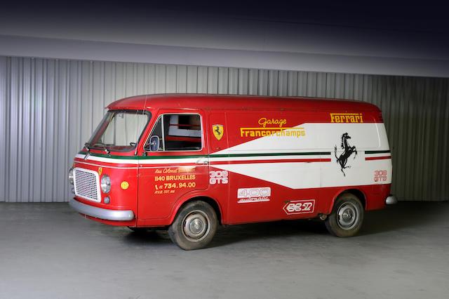 1973 FIAT Camionnette de service Type 238 Garage Ferrari Francorchamps,