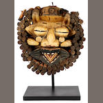 A Gere mask Ivory Coast 35cm high