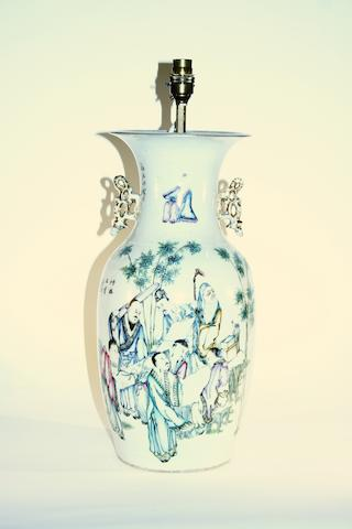 A Chinese famille rose vase 19th Century