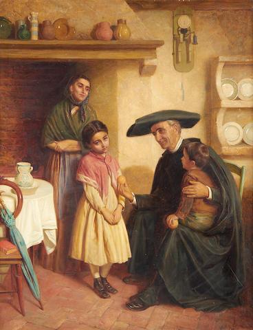 John Bagnold Burgess, RA (British, 1830-1897) The offering
