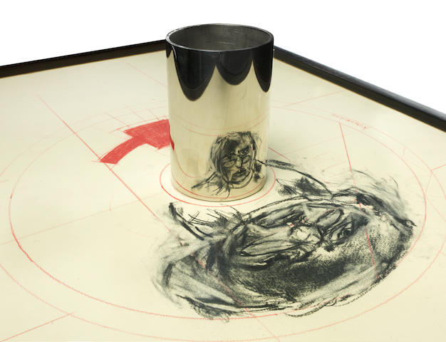 William Joseph Kentridge (South African, born 1955) Anamorphic self portrait