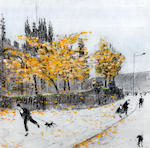 Harold Riley (British, 1934) Seasons at Manchester cathedral, (4)