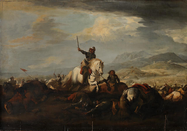 Marzio Masturzio (active Naples, circa 1670) A Cavalry skirmish