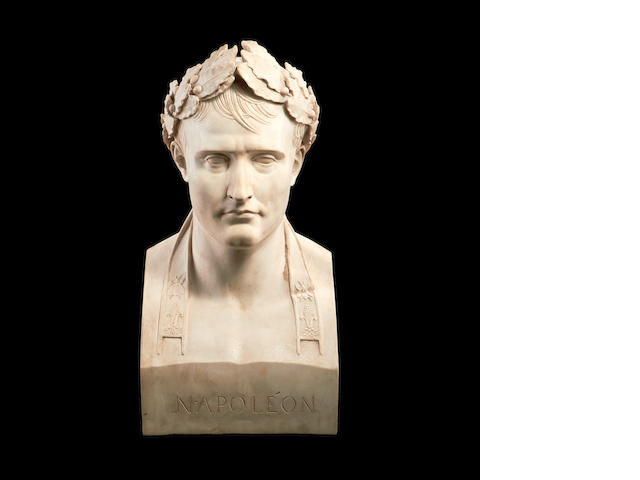 A resin bust of Napoleon by Anthony Redmile