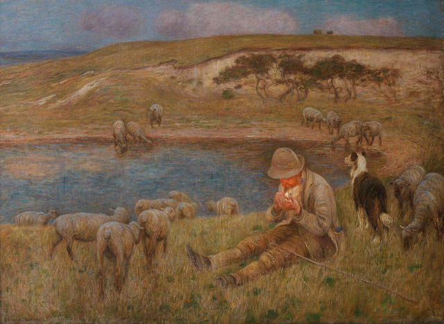 Edward Stott, ARA (British, 1859-1918) Peaceful rest