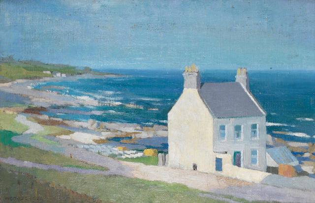 Sir William George Gillies (Scottish, 1898-1973) Coastal view 35.2 x 52.8 cm. (13 7/8 x 20 3/4)