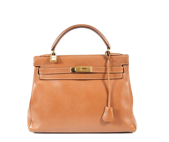 An Hermes light brown Kelly bag