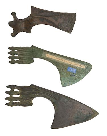 Three Luristan Bronze Axe-Heads
