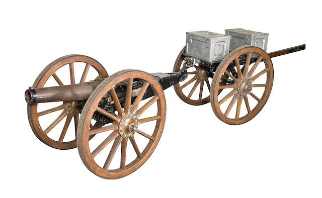 A 7-Pounder 200 lbs. R.M.L. Mark IV Mountain Gun And Limber