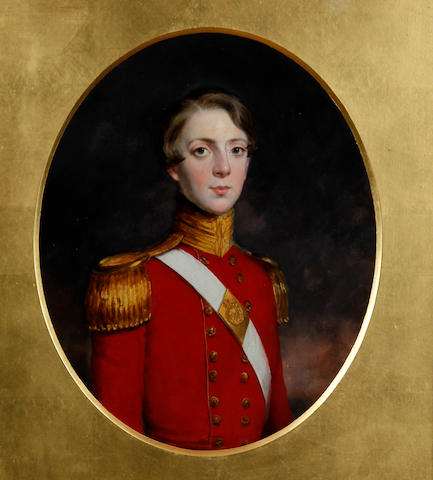 British School, (circa 1810) Portrait of a young army officer