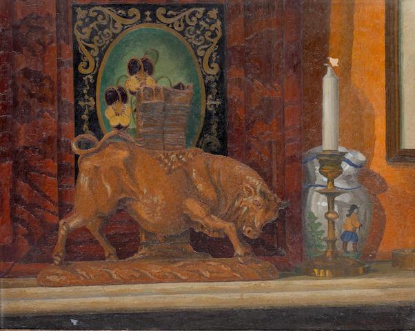 Charles Ginner (British, 1878-1952) The Porcelain Bull 43 x 53.2 cm. (17 x 21 in.)