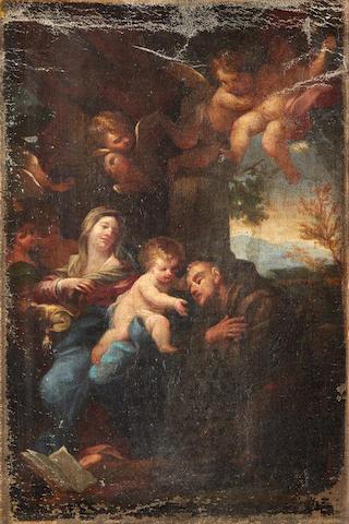 Follower of Carlo Maratta (Italian, 1625-1713), 18th Century The Vision of St Anthony of Padua