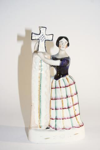 A Staffordshire figure of Jenny Lind as Alice Circa 1850