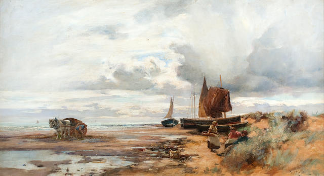 Joe Milne (British, 1857-1911) Coastal landscape 51 x 76 cm. (20 1/16 x 29 15/16 in.)