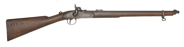 A .450 Westley Richards Patent 'Monkey-Tail' Breech-Loading Percussion Carbine
