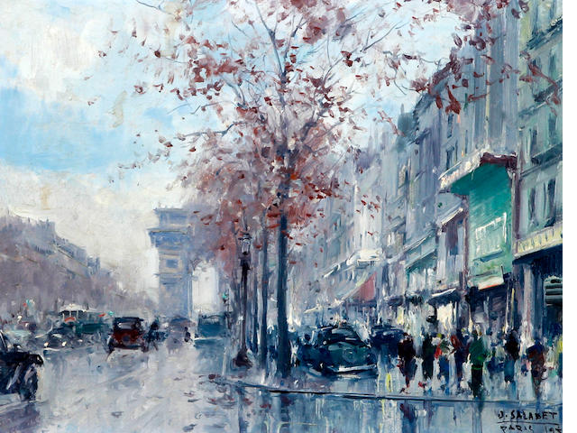 Jean Salabet (French, 20th Century) Avenue des Champs-Elysees