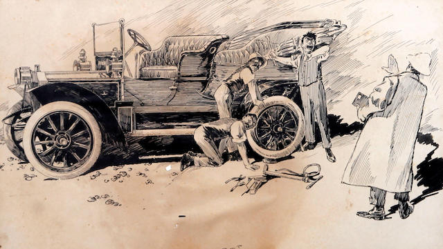 F. H. Stingemore (British, 1890-1954) 'A Prehistoric Hydroplane'
