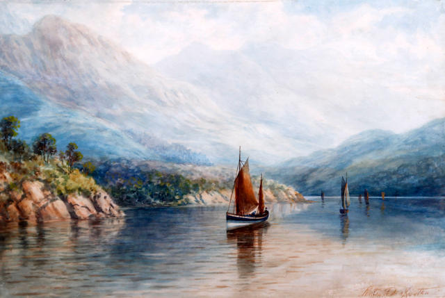 Milton Drinkwater (British, 19th/20th Century) 'Luss - Loch Lomond'