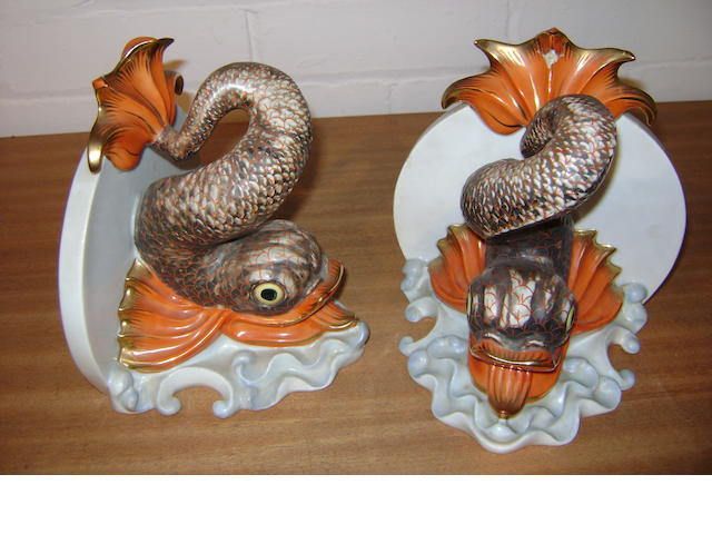 A Pair of Herende bookends