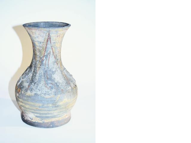 A Chinese earthenware vase Han Dynasty