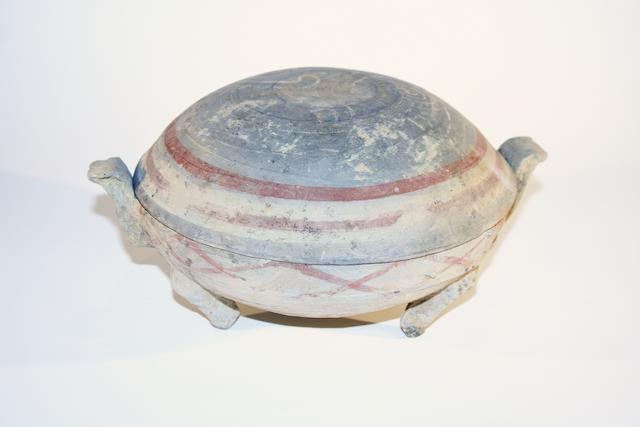 A Chinese covered tripod bowl Han Dynasty