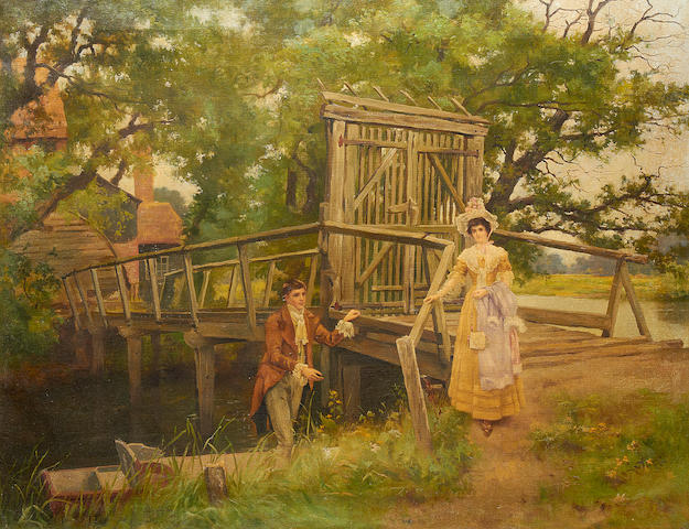 John Shirley Fox (British, born circa 1860-1939) A helping hand