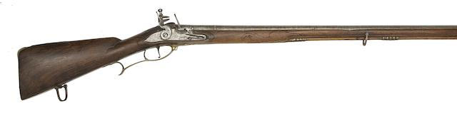 An Austrian 18-Bore Flintlock Sporting Rifle