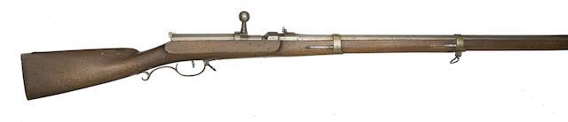 A Prussian 15MM 1841 Model Breech-Loading Needle-Fire Military Rifle