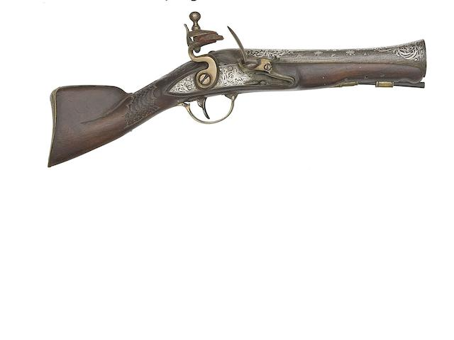 A Small Turkish Flintlock Blunderbuss, And A Turkish 18-Bore Flintlock Holster Pistol