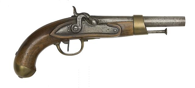 A French 14-Bore Model AN XIII Percussion Military Pistol