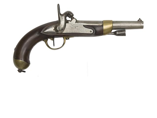 A French 12-Bore 1822 Model Percussion Military Pistol