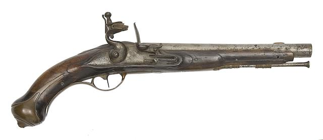 A Saxon 1763/4 Model Flintlock Cavalry Holster Pistol