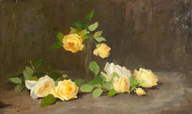 Louise Ellen Perman (Scottish, 1854-1921) Still life with roses