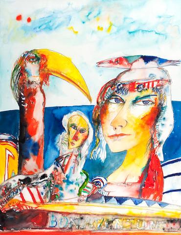 John Bellany, CBE RA HRSA LLD(Lon) (British, born 1942) Bonaventure  75 x 56 cm. (29 1/2 x 22 1/16 in.)