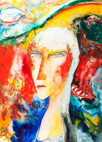 John Bellany, CBE RA HRSA LLD(Lon) (British, born 1942) Woman of Oaxaca 75 x 55 cm. (29 1/2 x 21 5/8 in.)