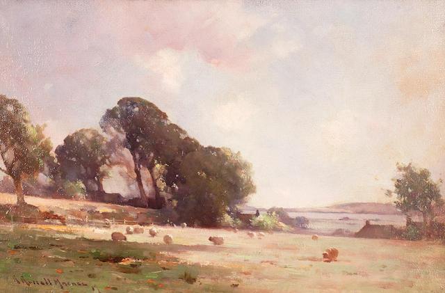 Robert Russell MacNee, RGI (British, circa 1866-1952) Pastoral 31 x 46.5 cm. (12 3/16 x 18 5/16 in.)