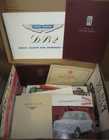 Assorted sales catalogues and brochures, 1930s-1970s,
