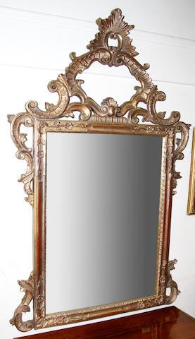 A modern gilt mirror,
