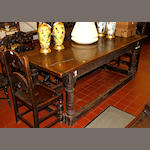 A 17th Style oak refectory table,