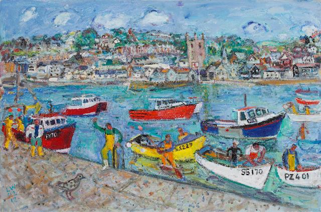 Linda Weir (British, born 1951) Hot Cats, Springtime, St. Ives 2012