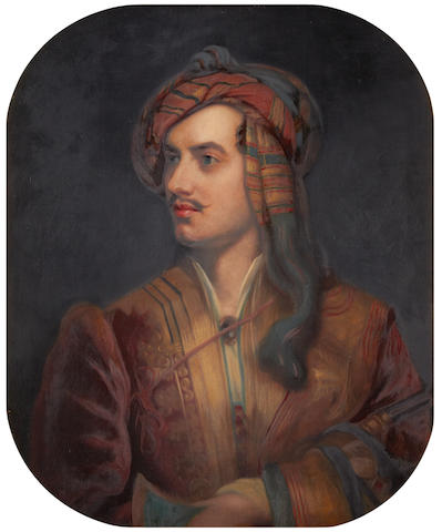 John Lewis Reilly (British, active 1857-1866), after Thomas Phillips Portrait of Lord Byron in Albanian dress
