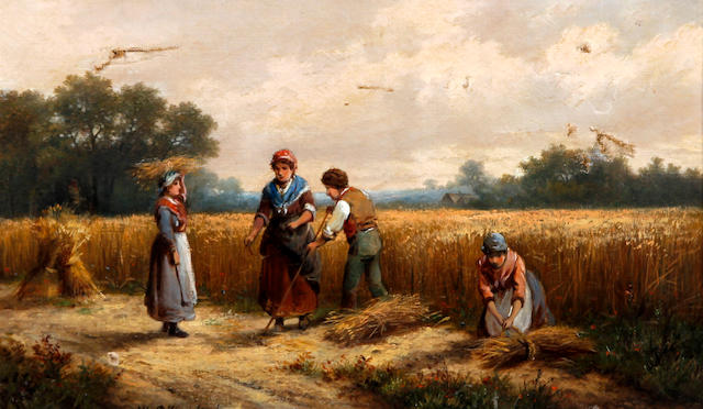 Hendrik Pieter Koekkoek (Dutch, 1843-died circa 1890) Bringing in the harvest