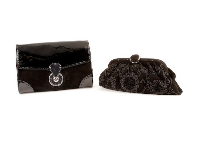 Two Ralph Lauren black bags
