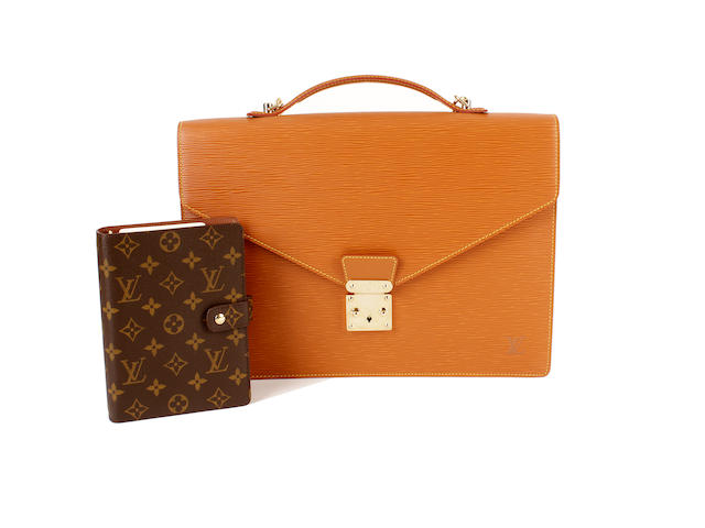 A Louis Vuitton bag and purse