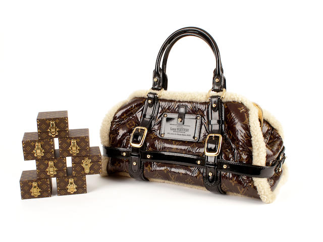 A Louis Vuitton monogram sheepskin doctor's style bag