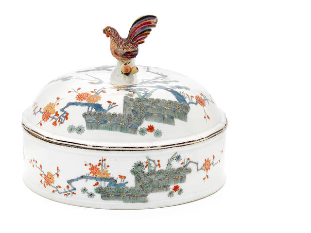 A Meissen circular tureen and cover, circa 1730