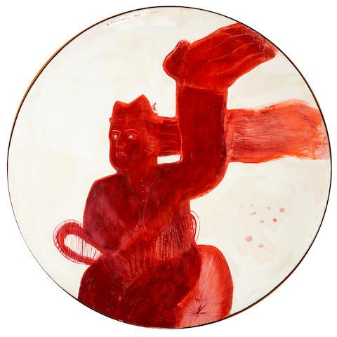 Alecos Fassianos (Greek, born 1935) The wind diameter 121 cm. (oval shape)