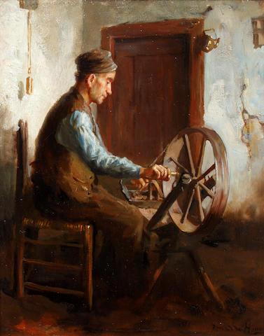 Bernard de Hoog (Dutch, 1867-1943) Spinning